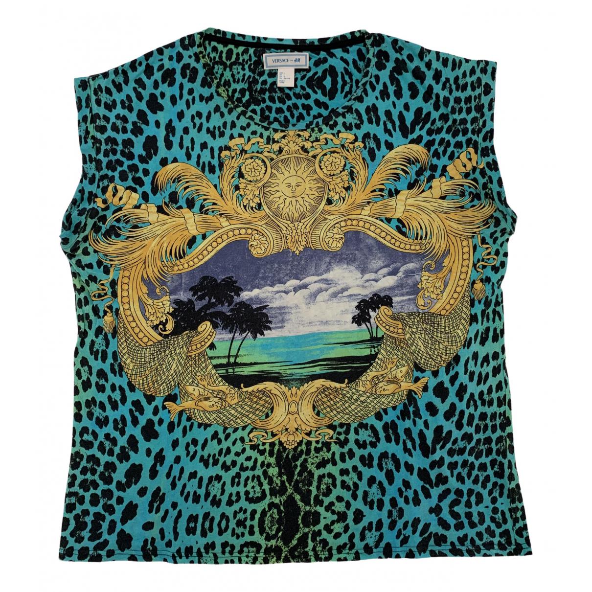 Versace X H&m - Tee shirts   pour homme en coton - multicolore