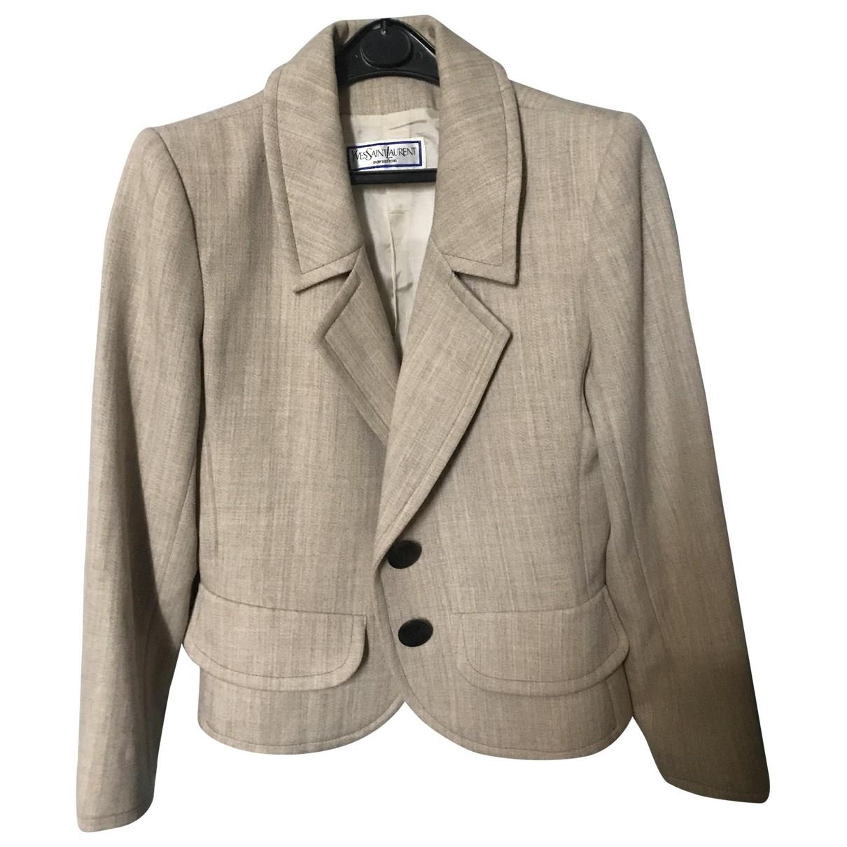 Yves Saint Laurent - Veste   pour femme en coton - beige