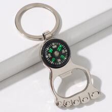 Foot Compass Charm Keychain