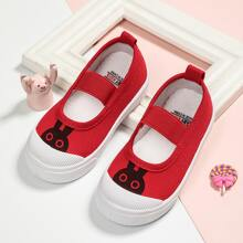 Toddler Girls Cartoon Graphic Elastic Band Flats