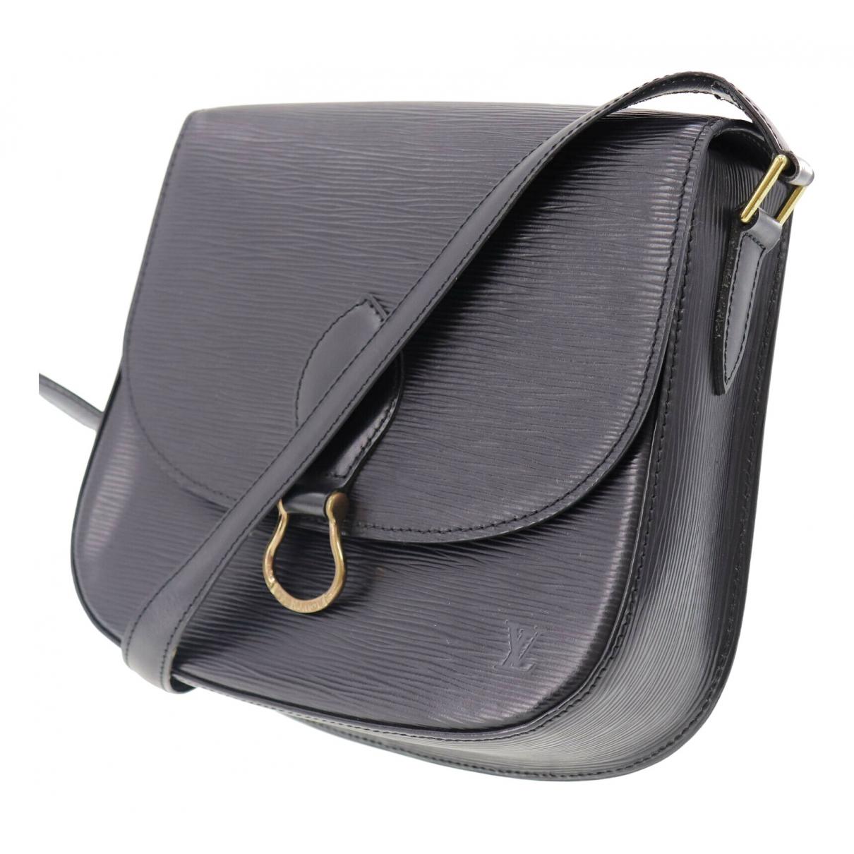 Louis Vuitton Saint Cloud vintage Black Leather handbag for Women \N
