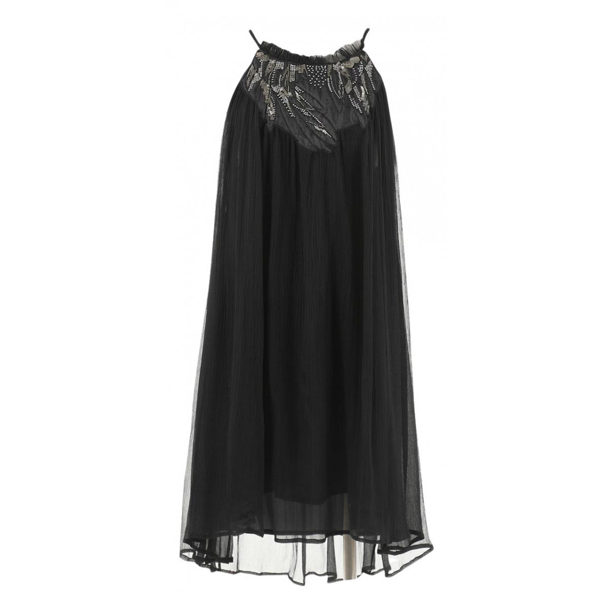 Vanessa Bruno Athe \N Kleid in  Schwarz Seide