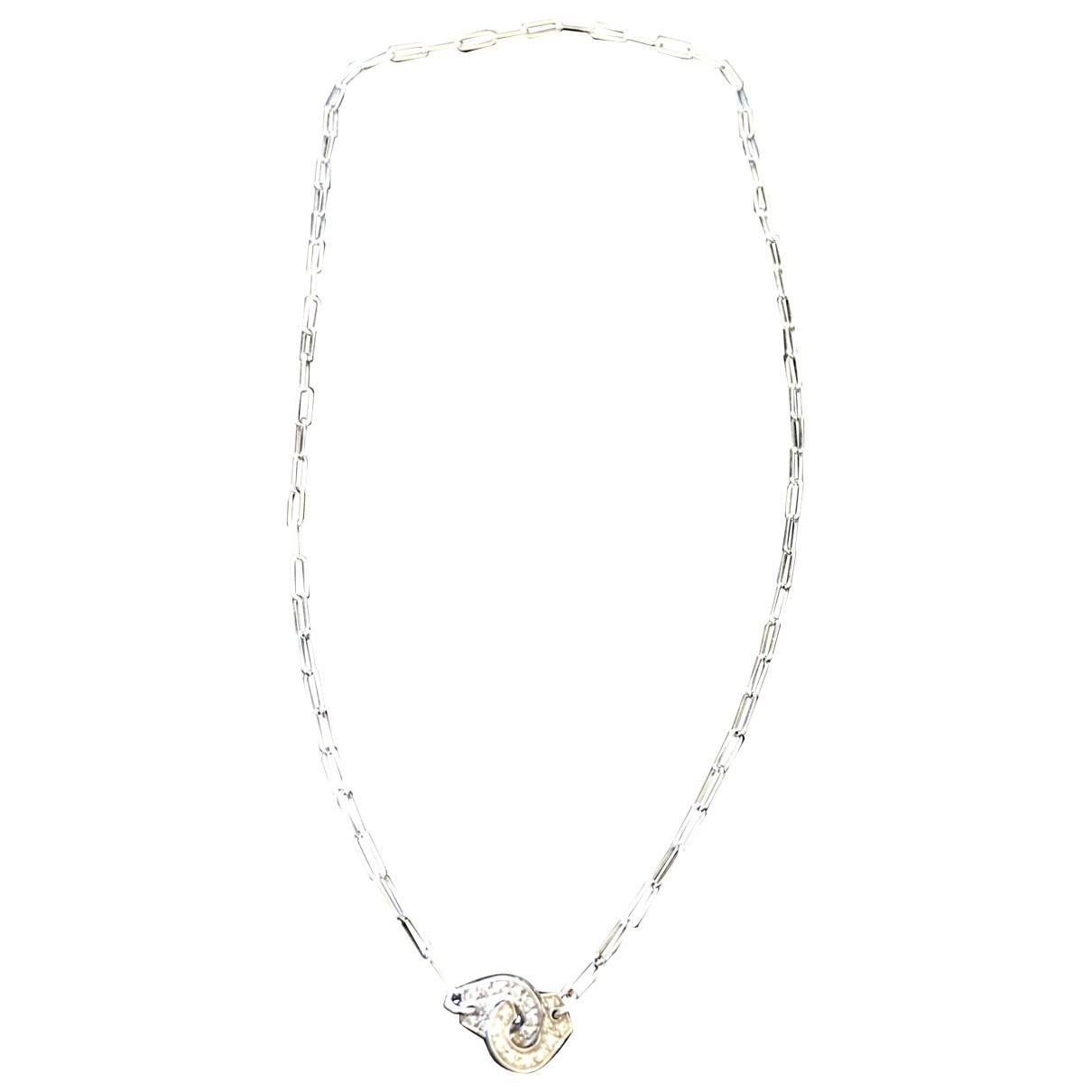 Dinh Van - Collier Menottes  pour femme en or blanc
