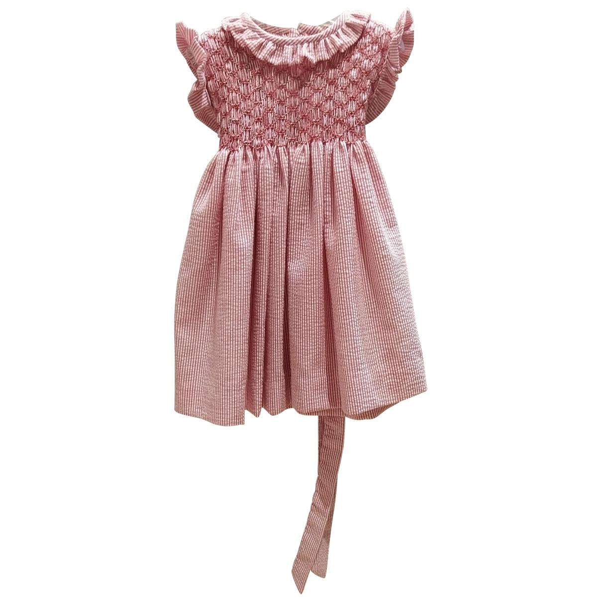 - Robe    pour enfant en coton - rouge