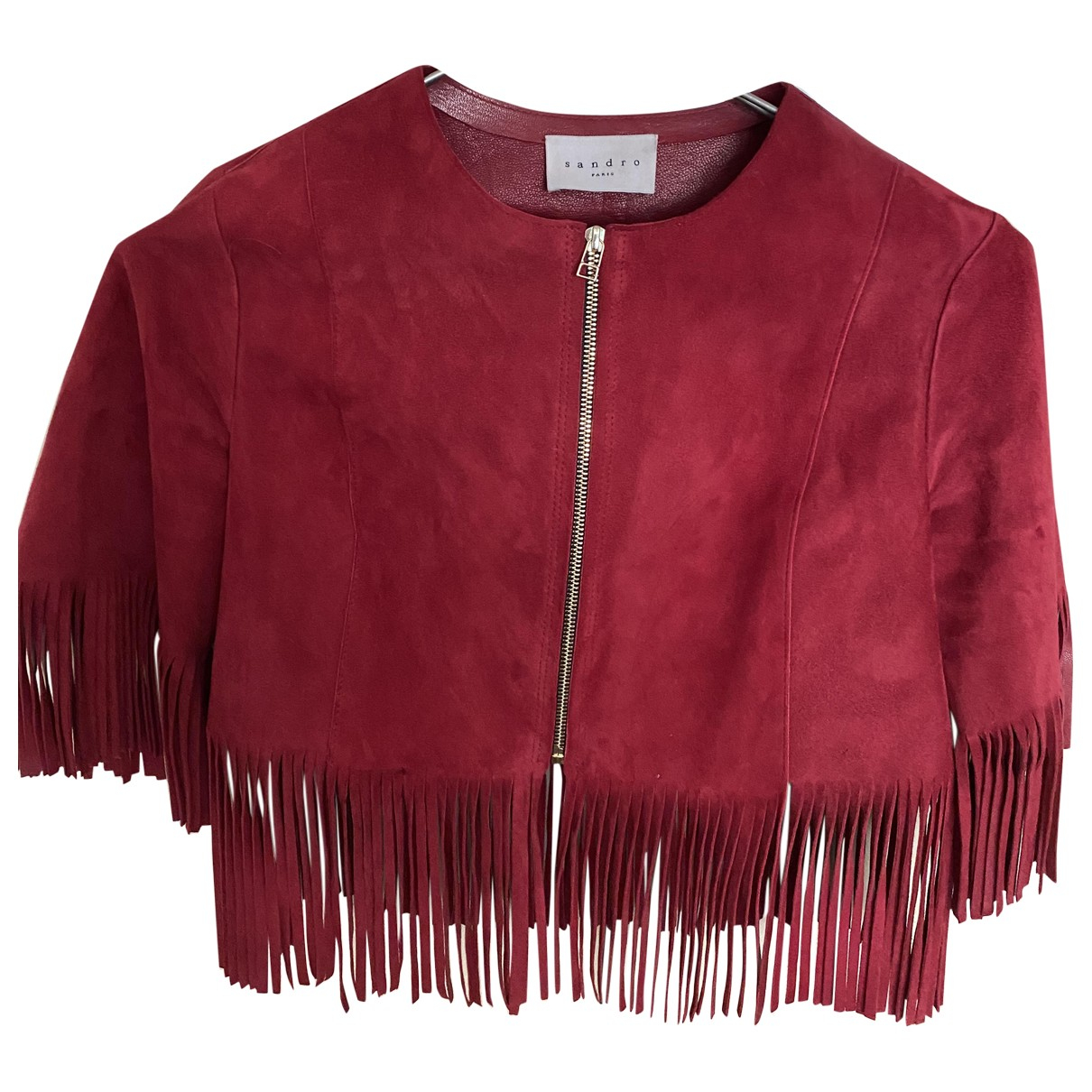 Sandro N Red Leather jacket for Women S International