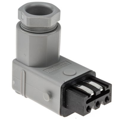 Hirschmann , ST Cable Mount Right Angle Industrial Power Plug, Socket, Rated At 16.0A, 250.0 V, 400.0 V