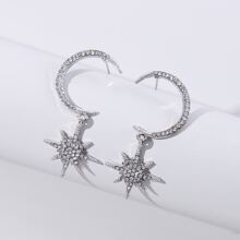 Moon & Star Decor Drop Earrings
