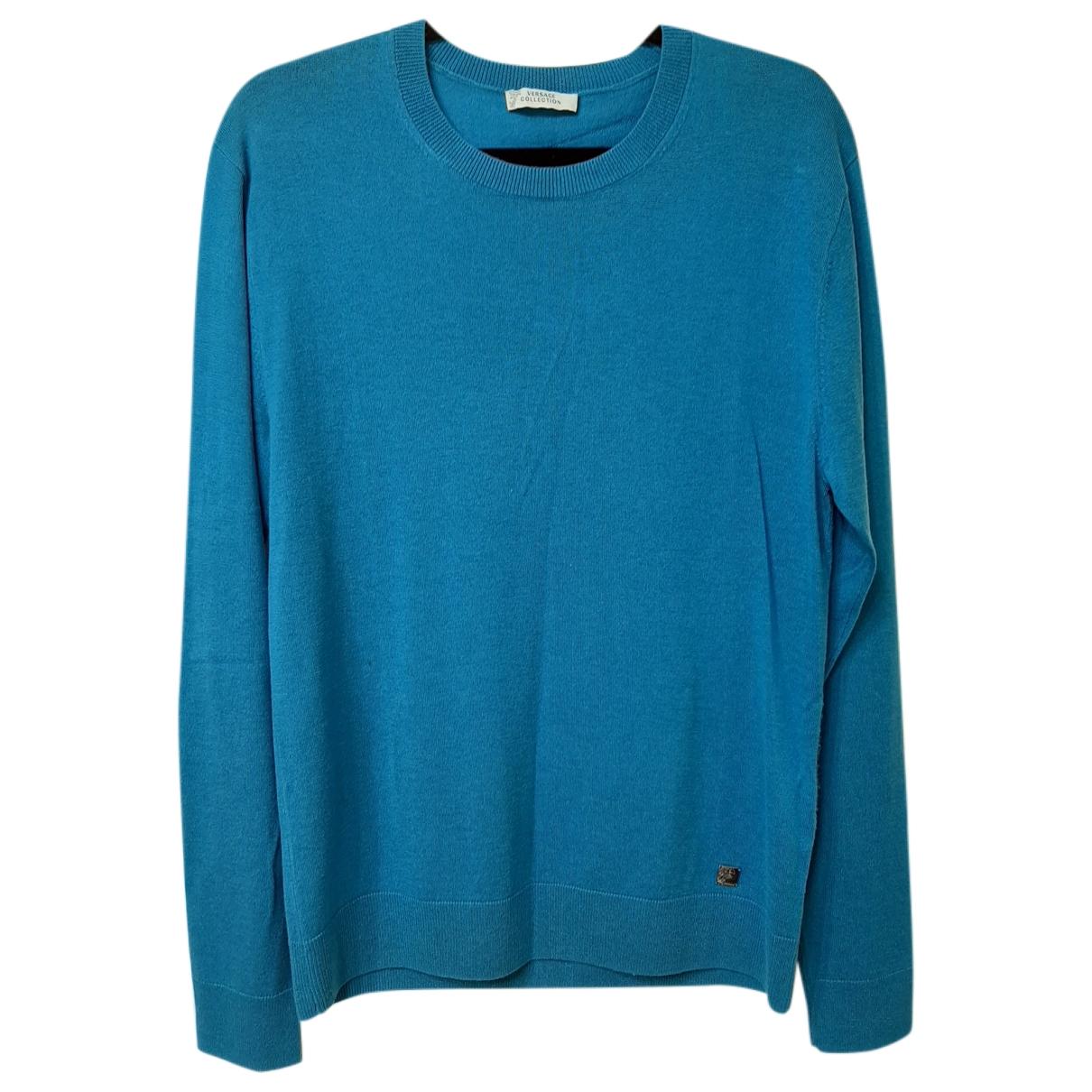 Versace \N Pullover.Westen.Sweatshirts  in  Blau Kaschmir