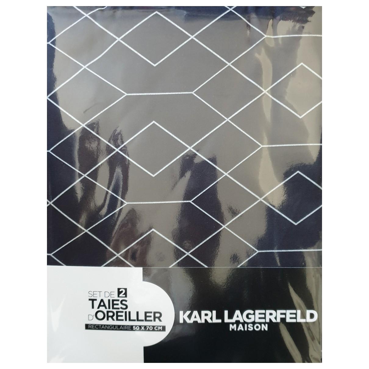 Karl Lagerfeld - Linge de maison   pour lifestyle en coton - gris