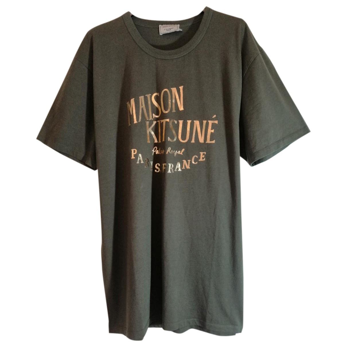 Maison Kitsune \N T-Shirts in  Gruen Baumwolle