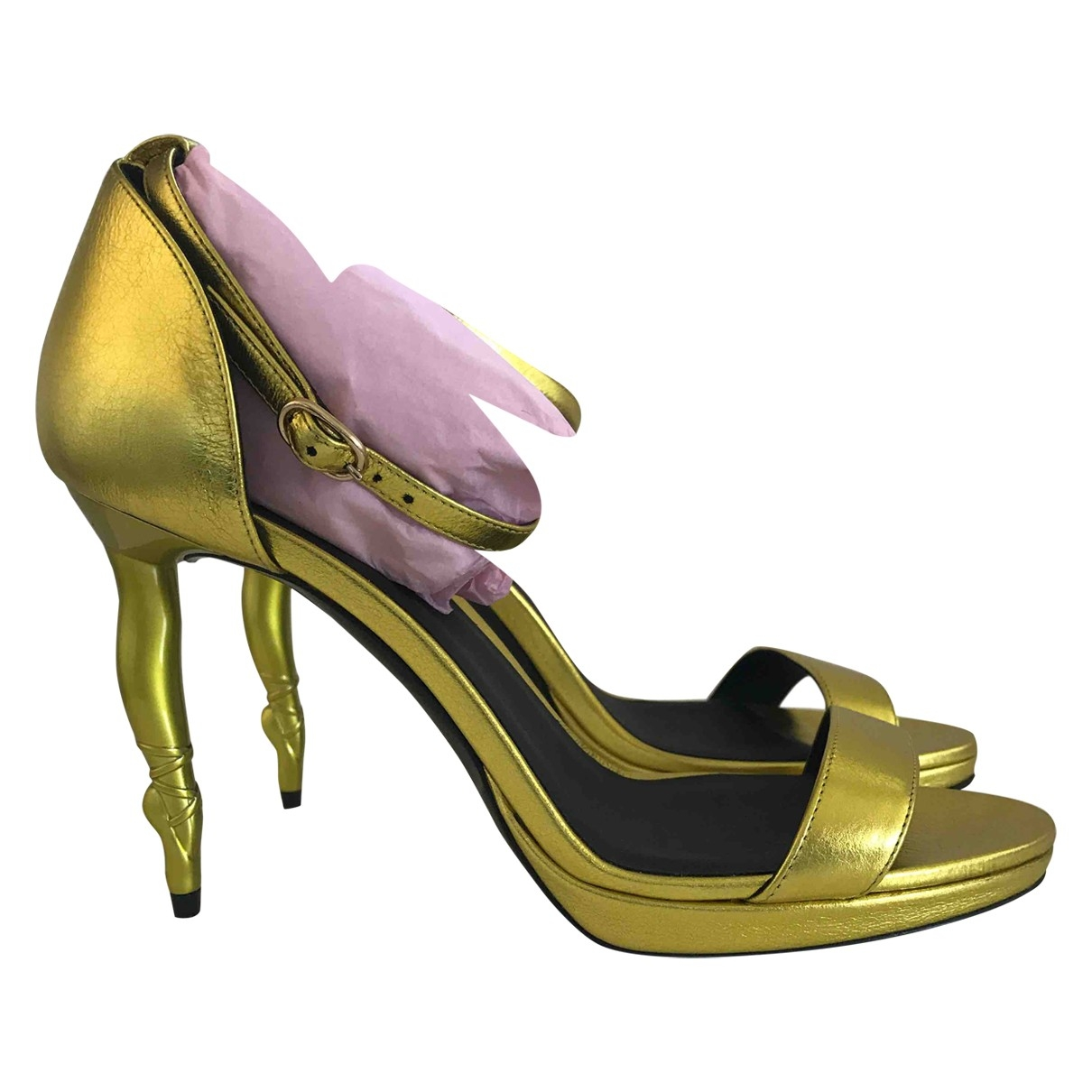 Repetto \N Metallic Leather Heels for Women 38 IT