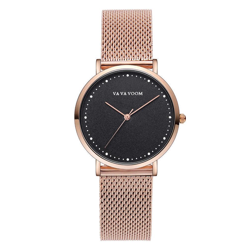 Fashion Women Watches Luxury Stainless Steel Mesh Band Quartz Dress Watches Ladies Clock for Women