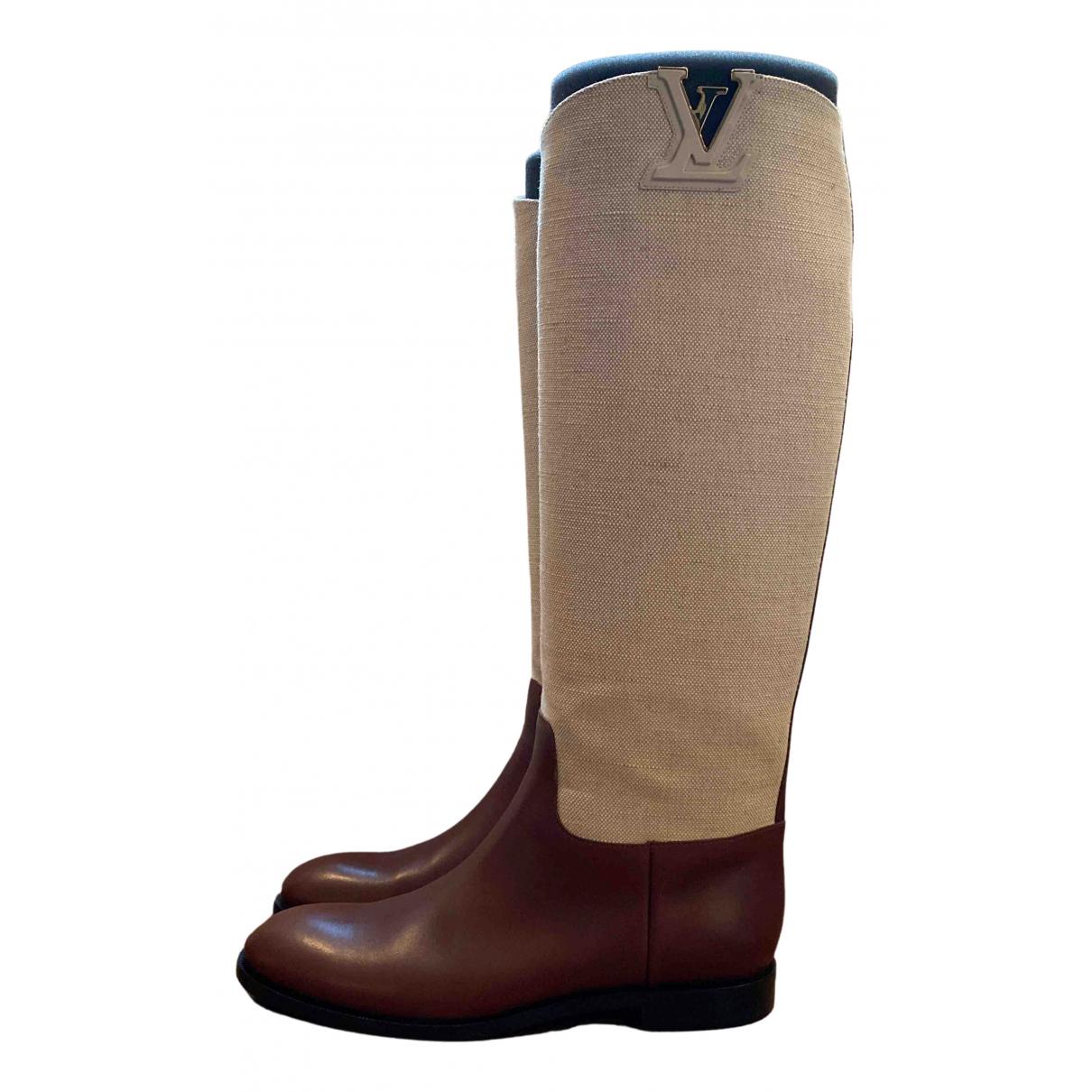 Louis Vuitton \N Stiefel in  Braun Leder