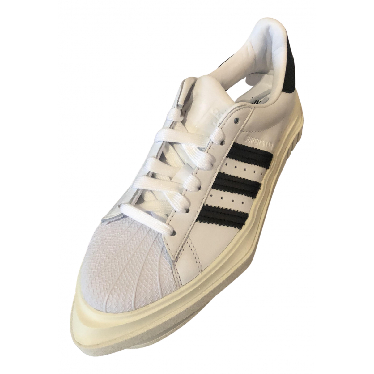 Adidas Superstar Black Leather Trainers for Women 6 US