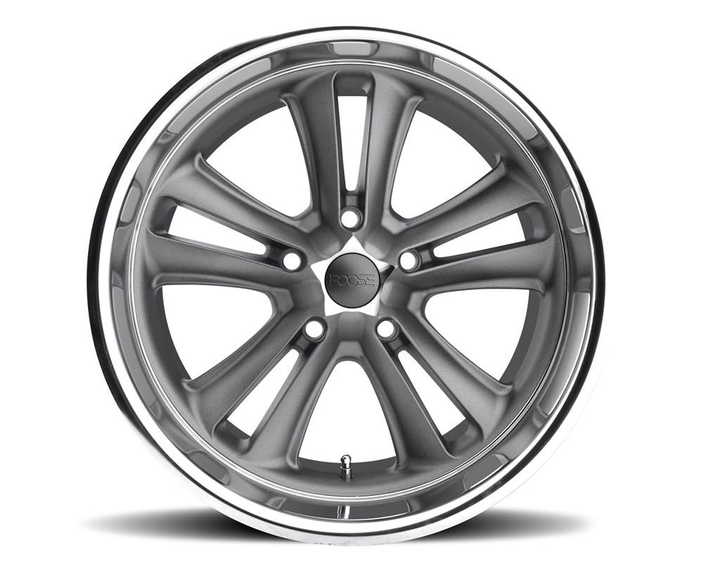 Foose F099 Knuckle Textured Gray / Diamond Cut Lip 1-Piece Cast Wheel 18x8 5x114.3 01mm