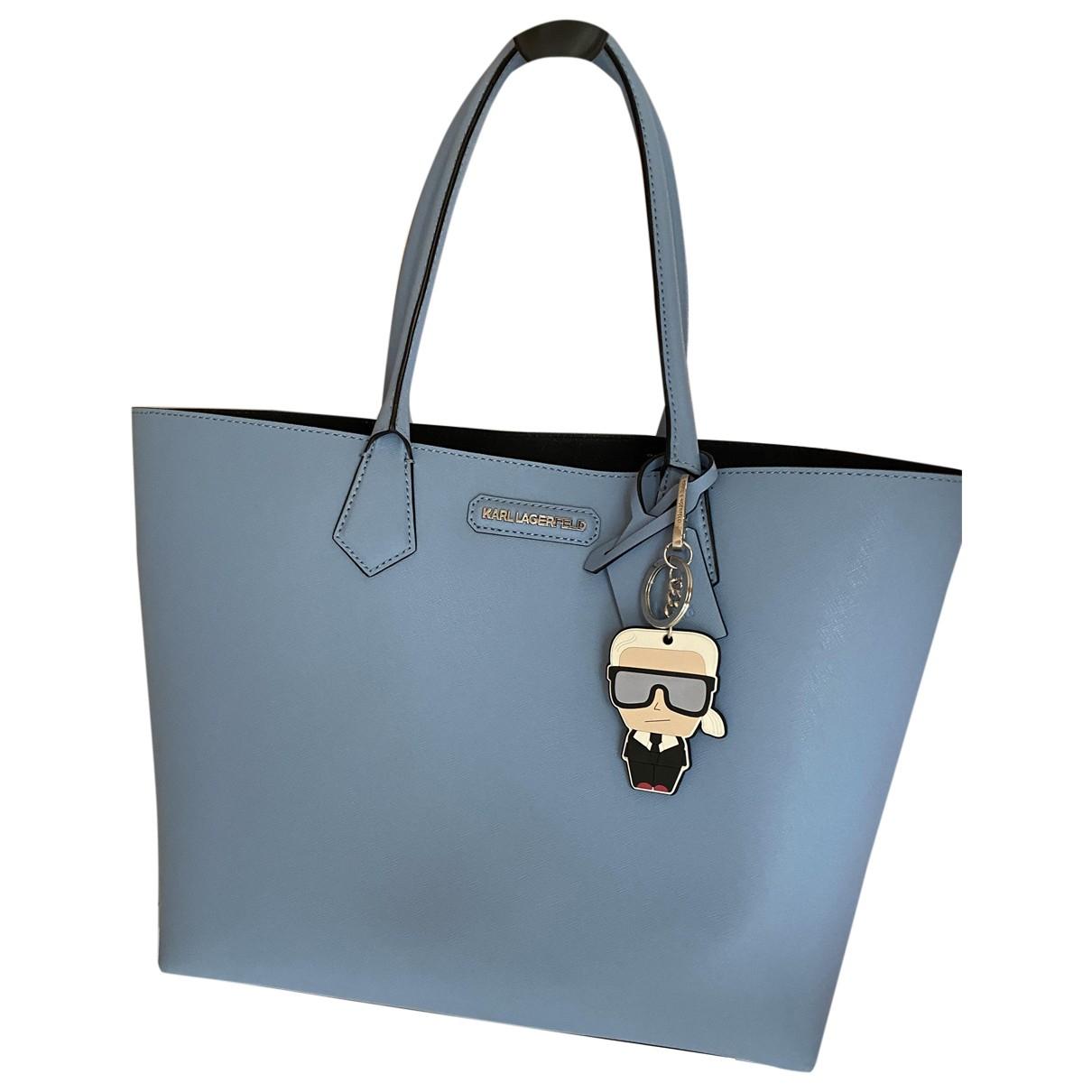 Karl Lagerfeld \N Handtasche in  Blau Veloursleder