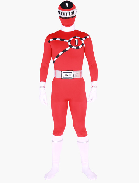 Milanoo Morph Suit Power Rangers Zentai Suit Full Body Lycra Spandex Bodysuit