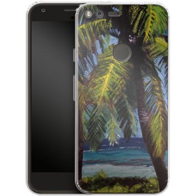 Google Pixel Silikon Handyhuelle - Palms von Kaitlyn Parker