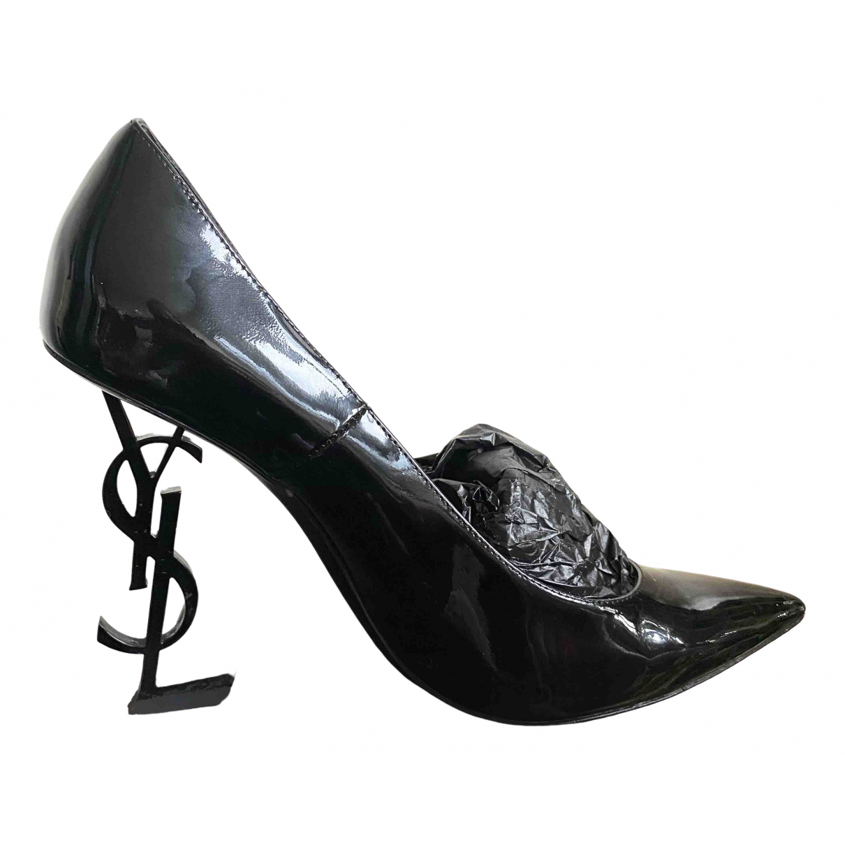 Saint Laurent Opyum Pumps in  Schwarz Lackleder