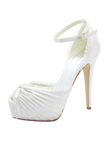 Milanoo Bows Platform Bridal Sandals Chic Evening High Heels