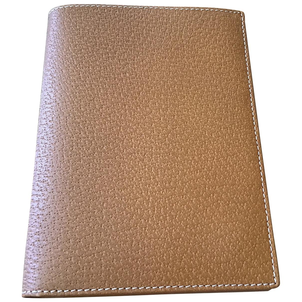 Lanvin \N Camel Leather Small bag, wallet & cases for Men \N