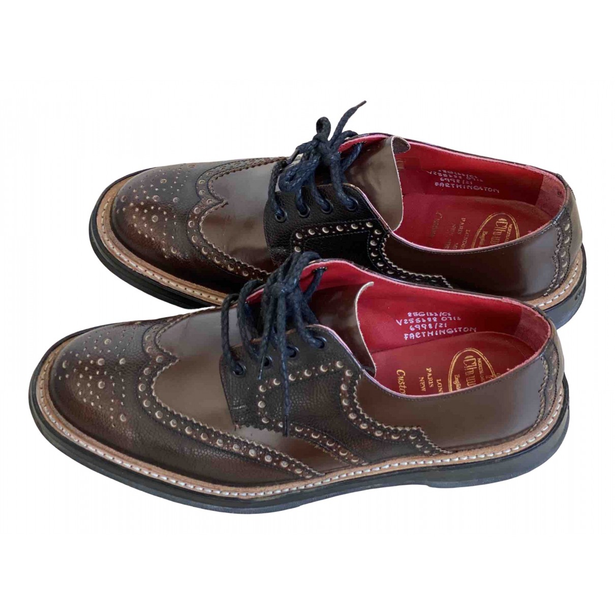Church's \N Brown Patent leather Lace ups for Men 8.5 UK