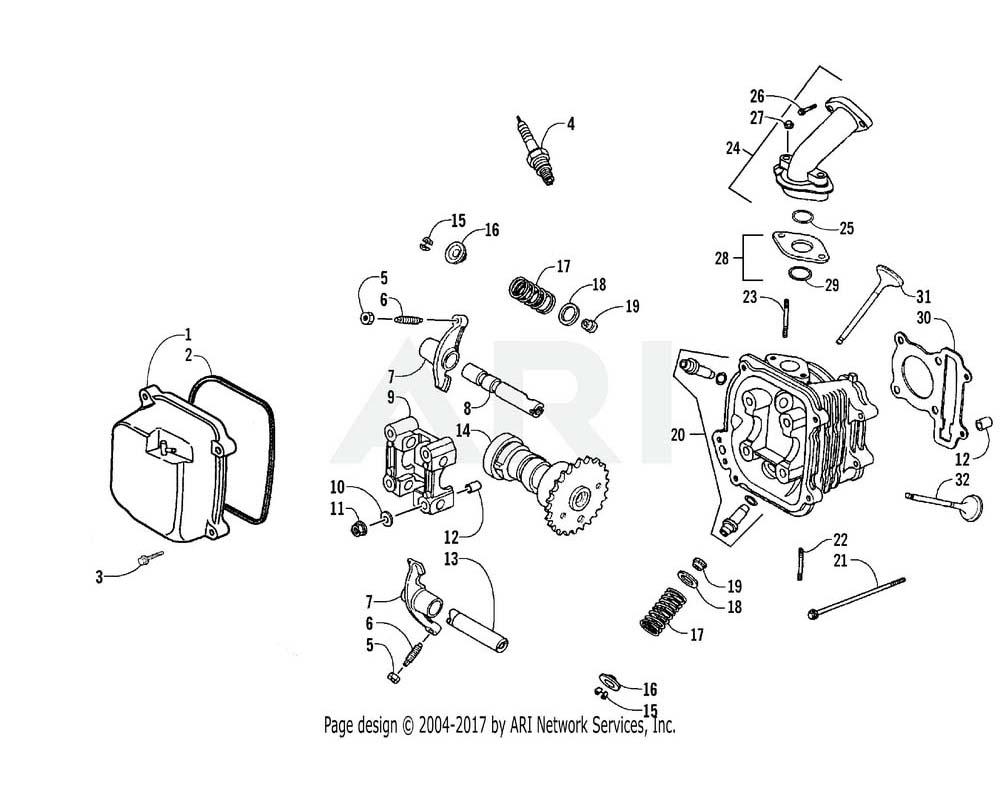Arctic Cat OEM 3303-505 Valve Exhaust