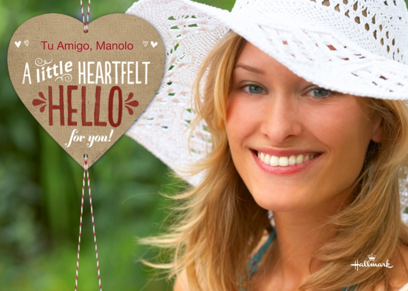 Valentine's Cards 5x7 Folded Cards, Premium Cardstock 120lb, Card & Stationery -A Little Heartfelt Hello