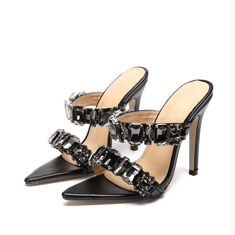 Ericdress Slip-On Stiletto Heel Flip Flop Rubber Fashion Slippers