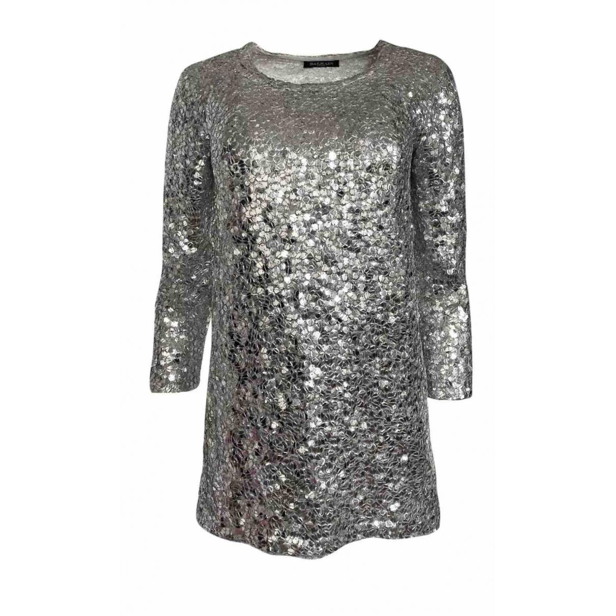 Balmain \N Silver Glitter dress for Women 36 FR