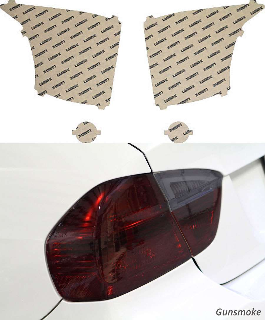 Scion iQ 12-15 Gunsmoke Tail Light Covers Lamin-X SC209G