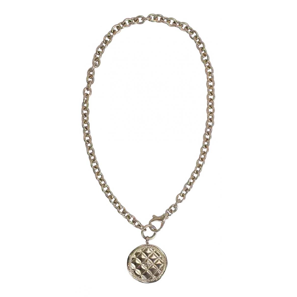 Chanel Matelassé Gold Metal necklace for Women N