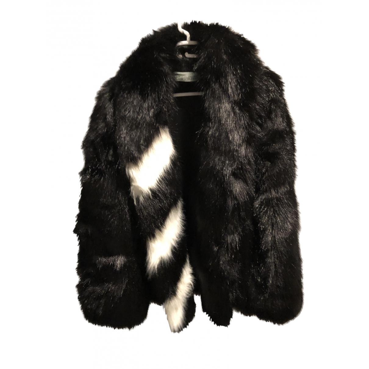 Off-white \N Black Faux fur coat for Women 36 IT