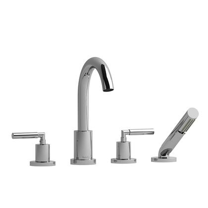 SY12LC 4-Piece Deck Mount Tub Filler with Lever Handles and Hand Shower  in