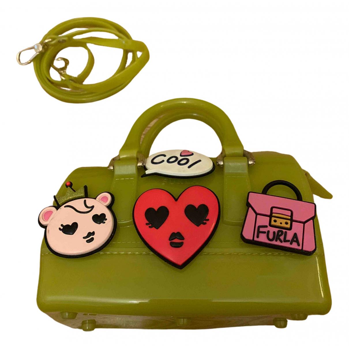Furla Candy Bag Handtasche in  Gruen Kunststoff