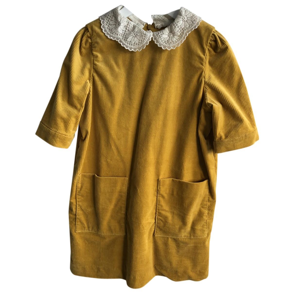 Bonpoint \N Kleid in  Gelb Baumwolle