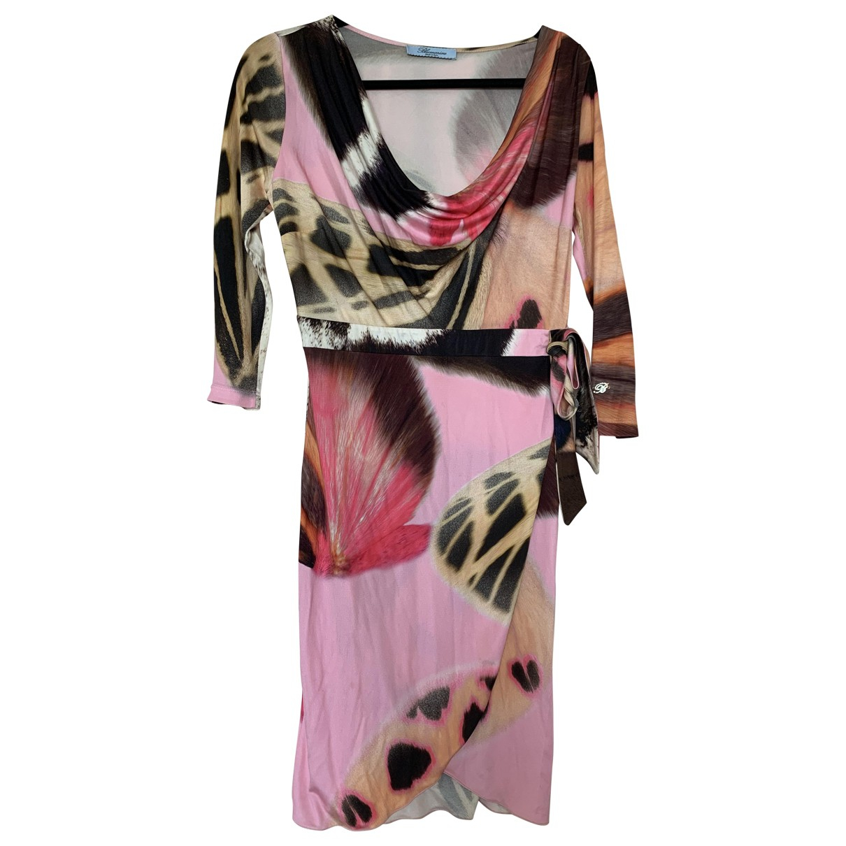 Blumarine \N Pink Silk dress for Women 42 IT