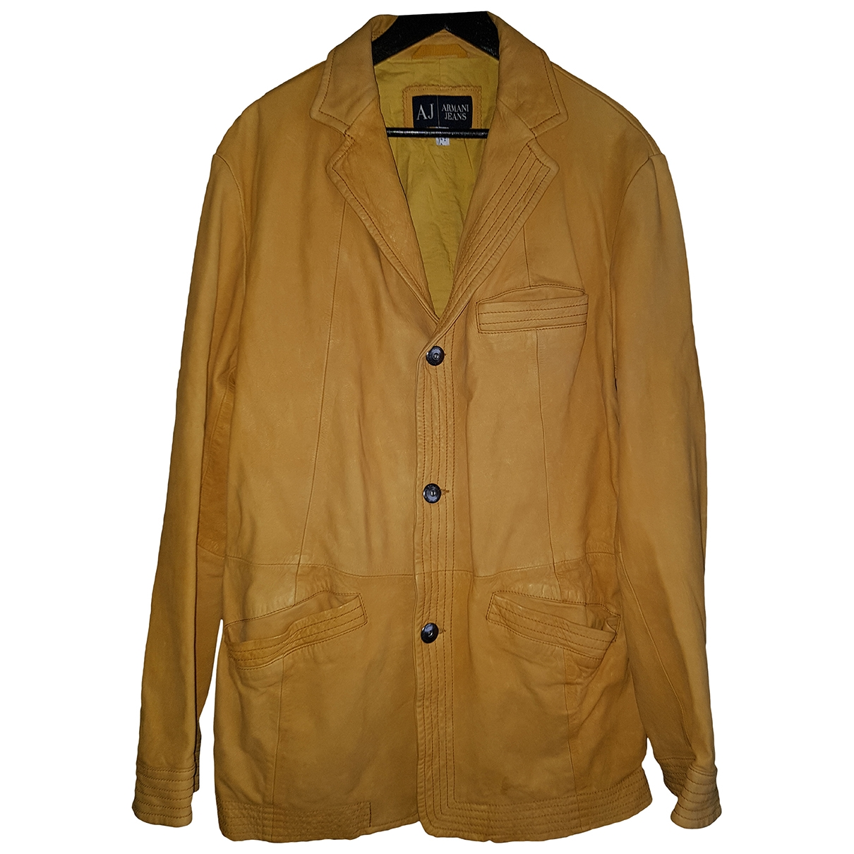 Armani Jeans \N Leather jacket  for Men 52 IT