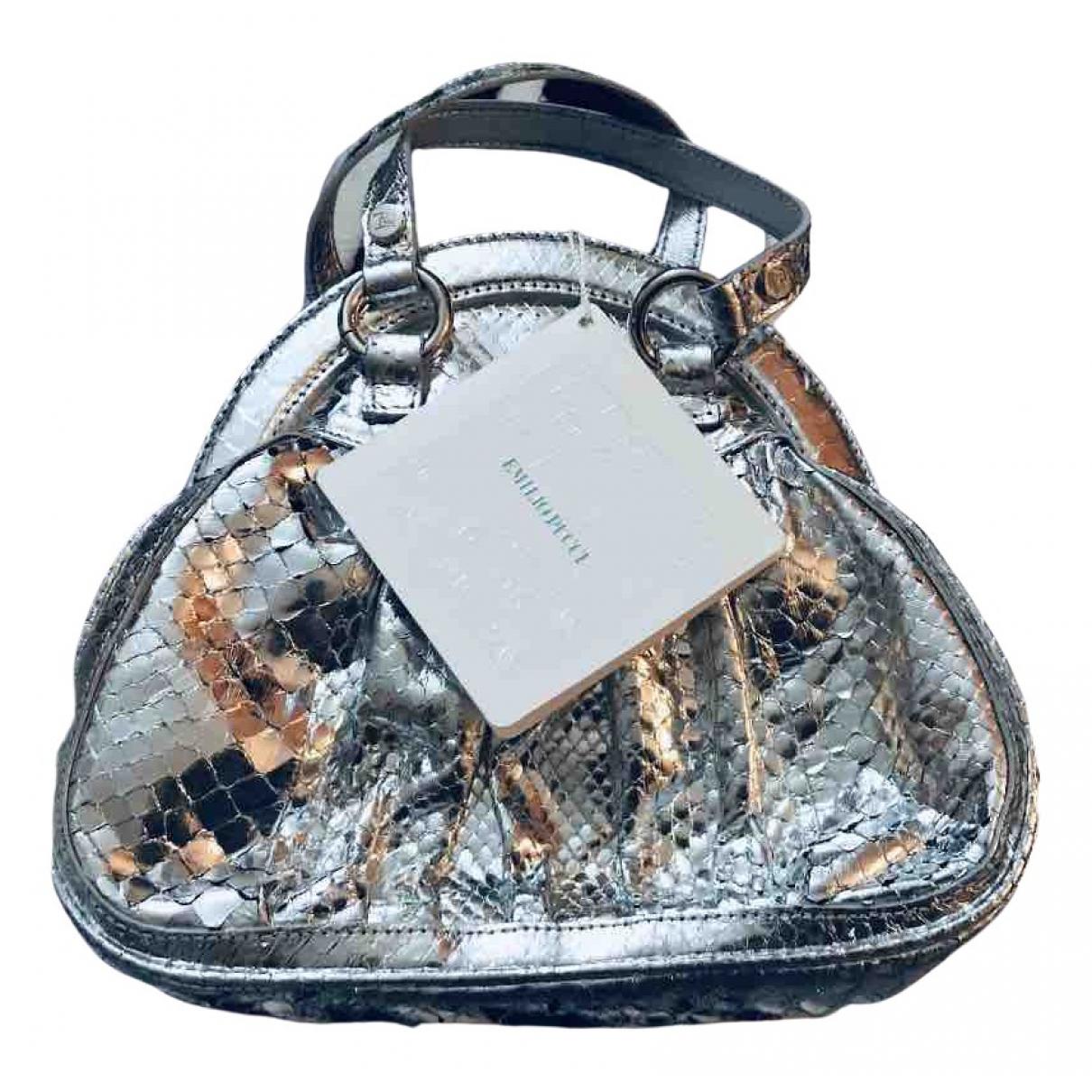 Emilio Pucci \N Handtasche in  Silber Python