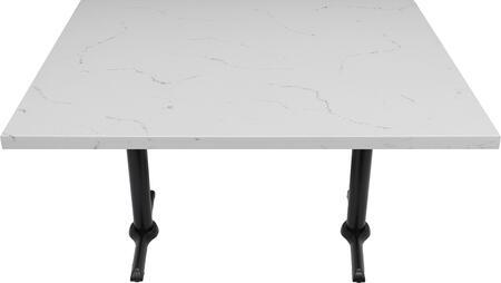 Q401 30X42-B10-0522H 30x42 Carrera White Quartz Tabletop with 5