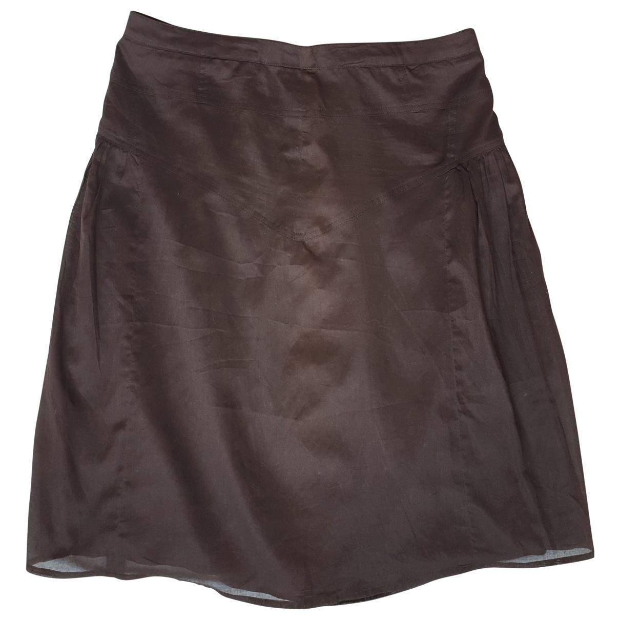 Burberry - Jupe   pour femme en coton - marron