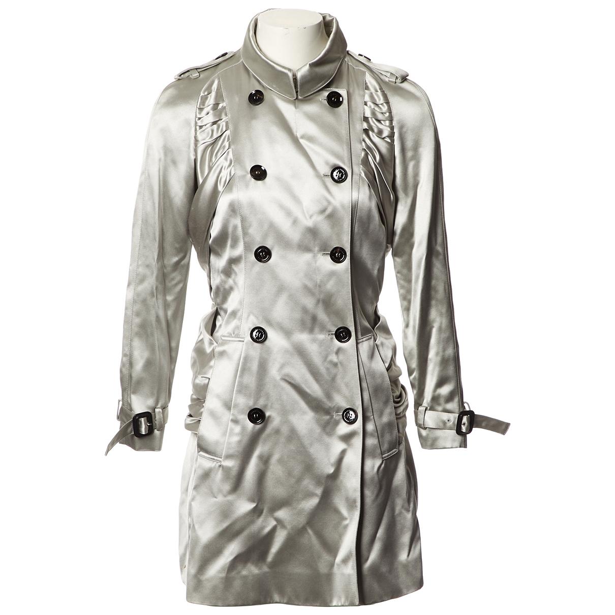 Burberry \N Grey Silk Trench coat for Women 40 FR