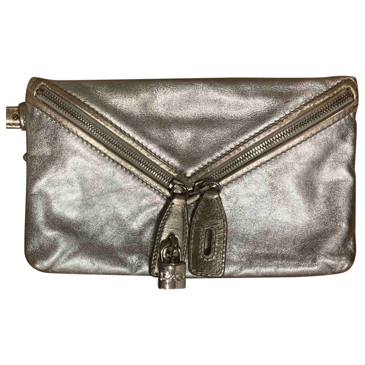 D&g \N Silver Leather Clutch bag for Women \N