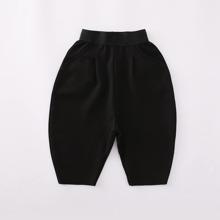 Schwarz Einfarbig Laessig Jungen Shorts