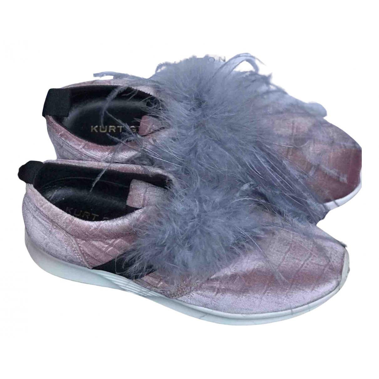 Kurt Geiger \N Sneakers in  Rosa Samt