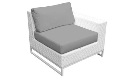 Miami TKC047b-LAS-GREY Left Arm Chair - Sail White and Grey