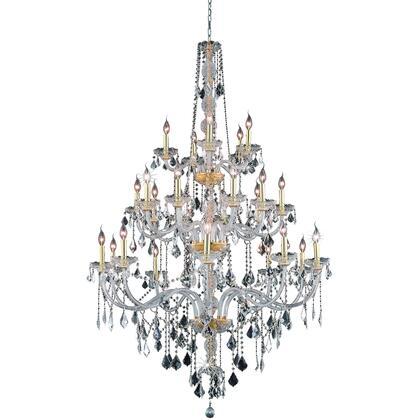 V7825G43G/RC Verona 25 Light Gold Chandelier Clear Royal Cut