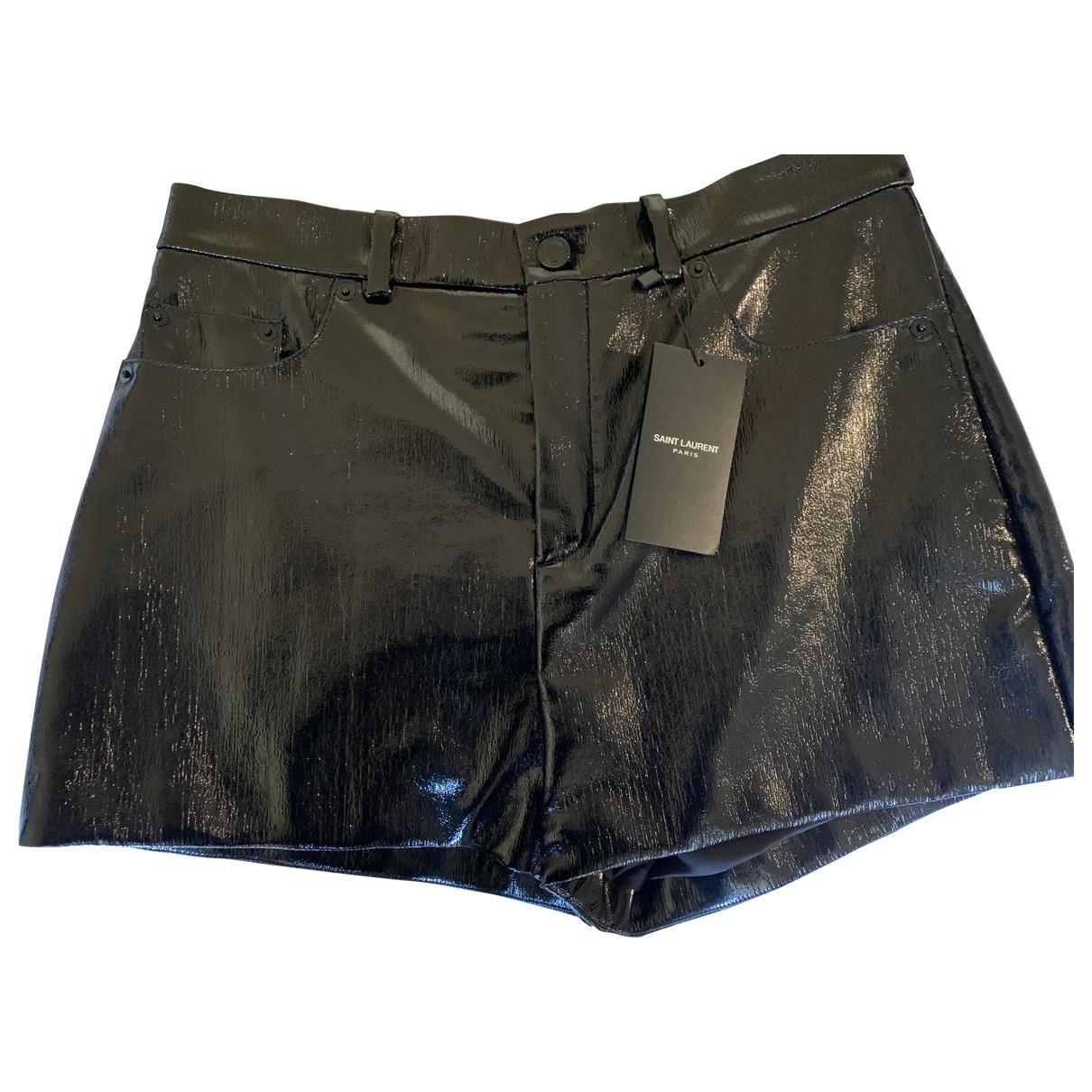 Saint Laurent \N Black Cotton Shorts for Women 42 FR