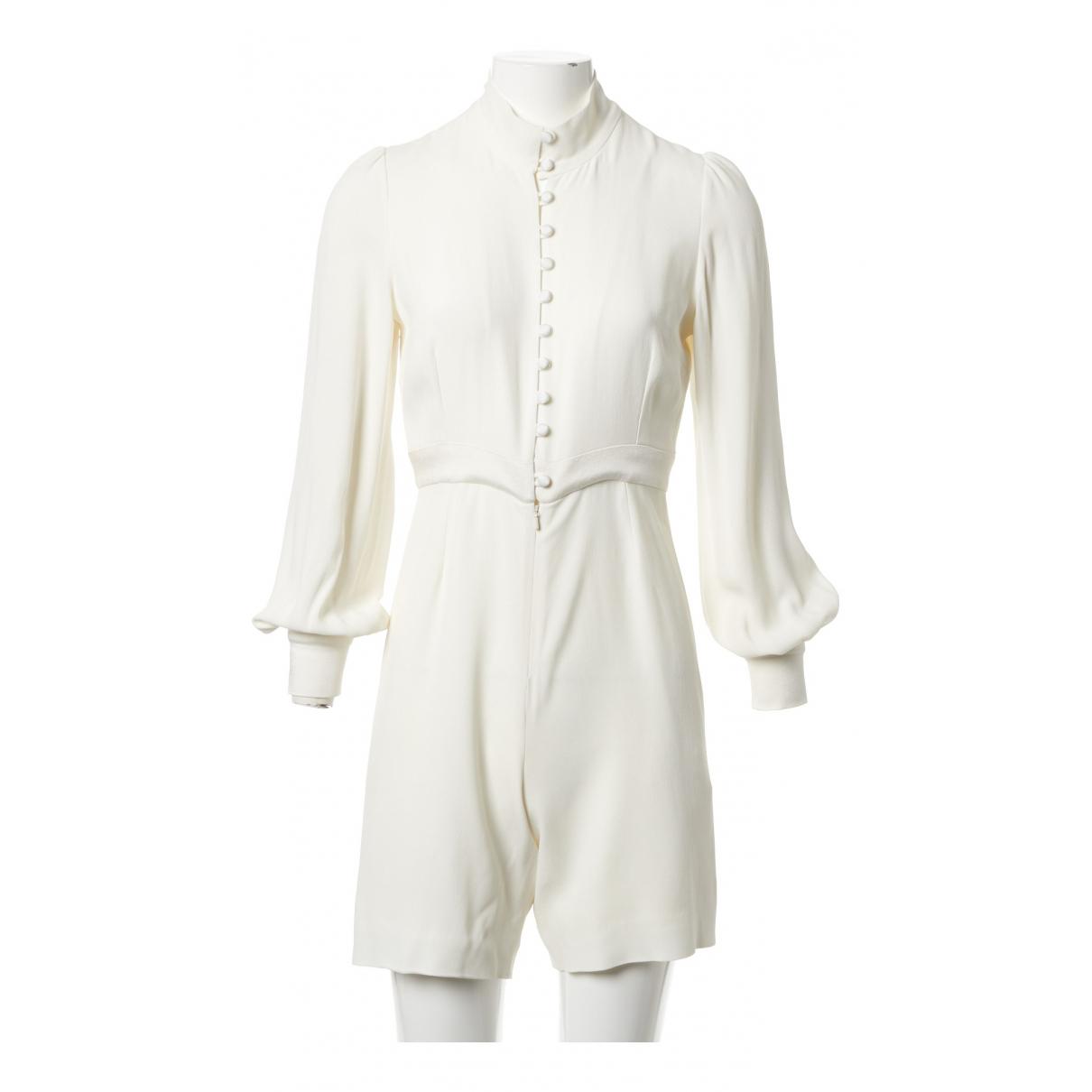 Goat \N White jumpsuit for Women 8 UK