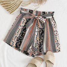 Shorts Cinta Tribal Multicolor Bohemio